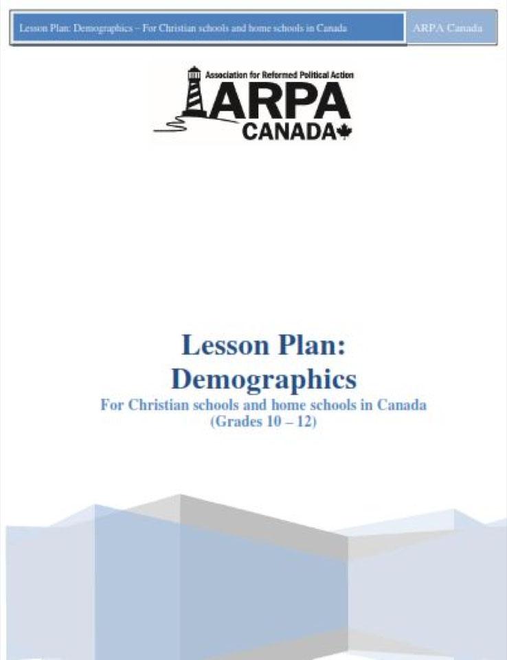 ARPA Canada - Lesson Plan Demographics