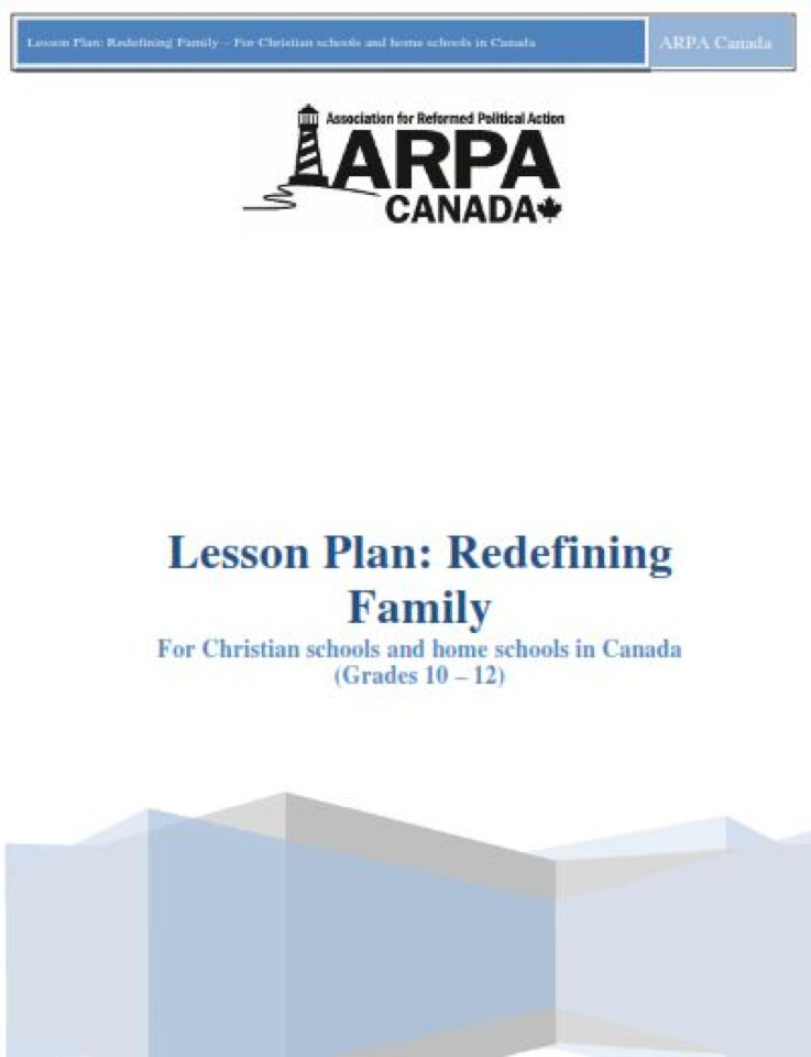 ARPA Canada - Lesson Plan Redefining Family