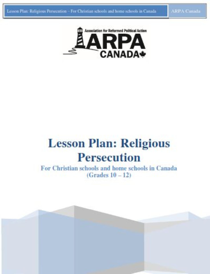 ARPA Canada - Lesson Plan Religious Persecution