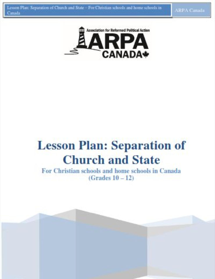 ARPA Canada - Lesson Plan Separation of Church and State