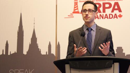 Daniel Gilman speaking at GG16