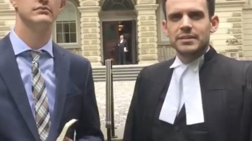 Andre and Colin in front of Ontario Court of Appeal