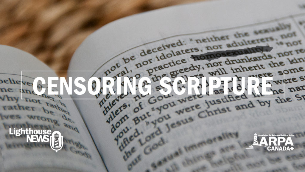 Censoring the Bible: State board tells Christian school to stop reading offensive verses