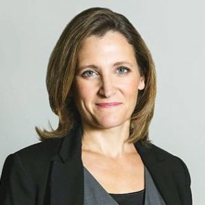 Chrystia Freeland, MP and Minister of Foreign Affairs