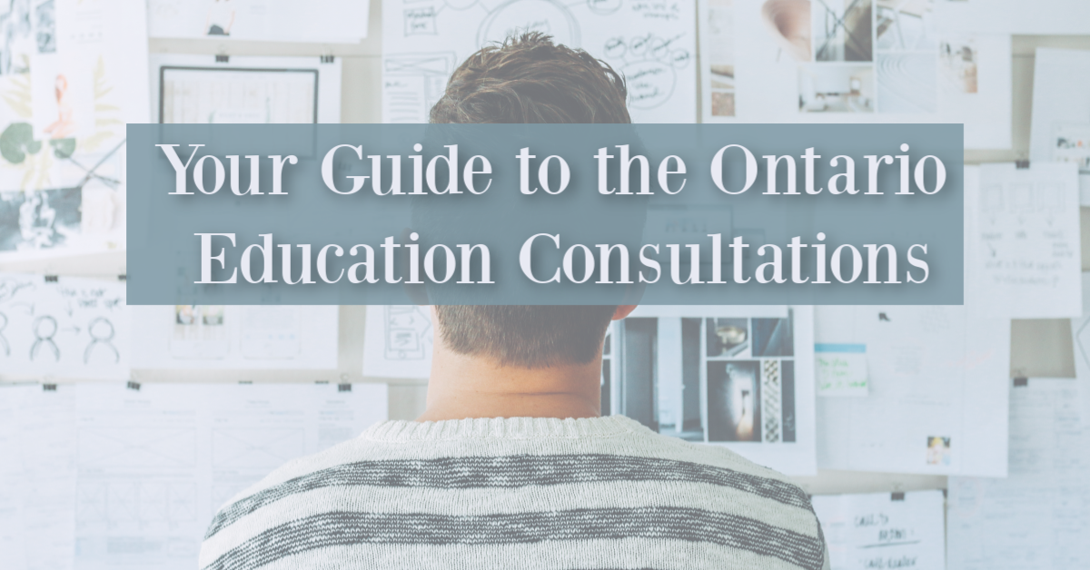 ON: Your guide to the consultations!
